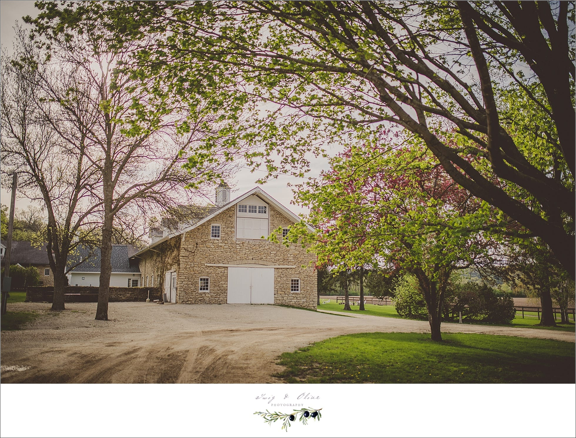 rustic barns, trees, blooms, blossoms, Rochester to Sun Prairie