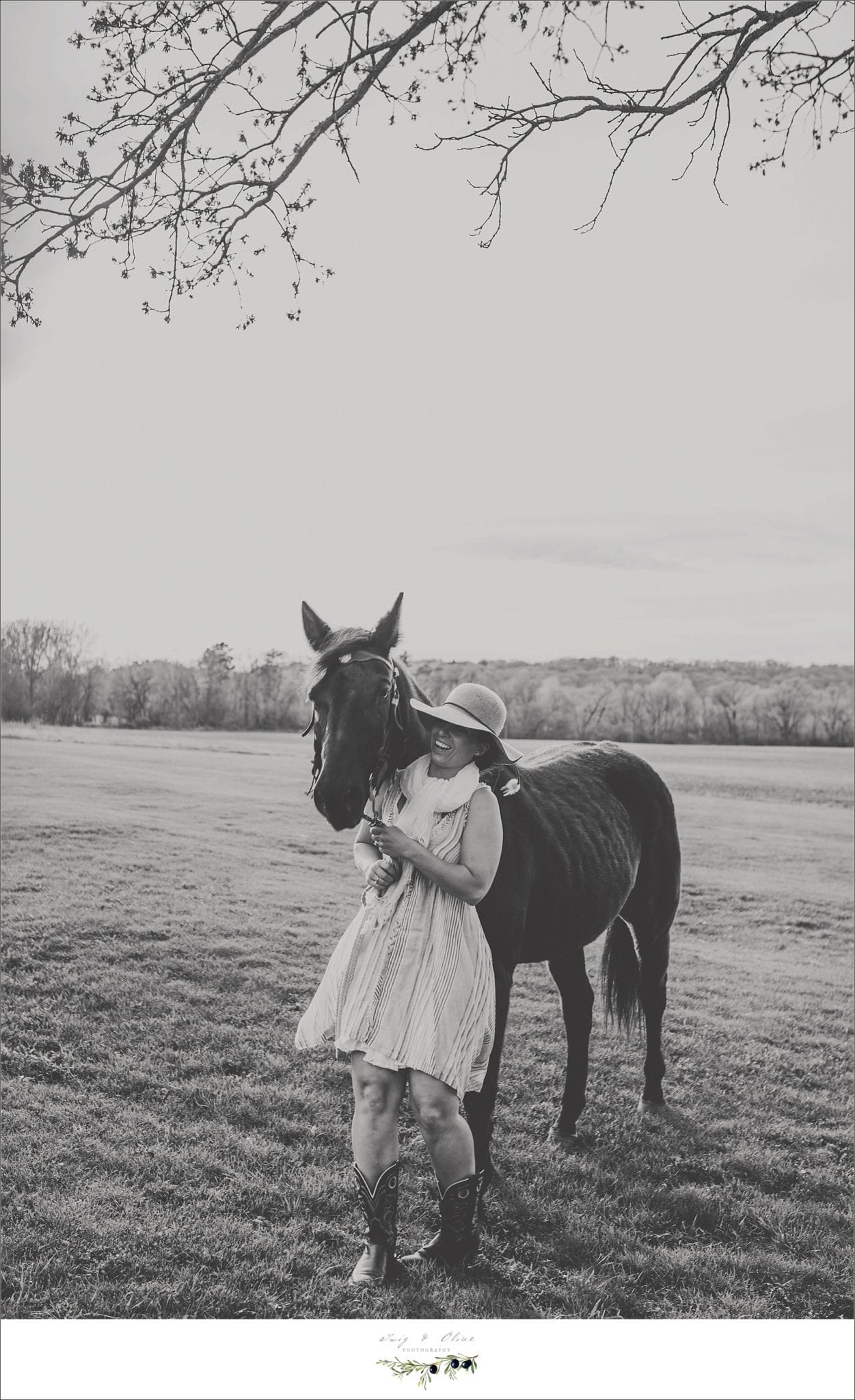 black and white, horses, portraits, Twig and Olive