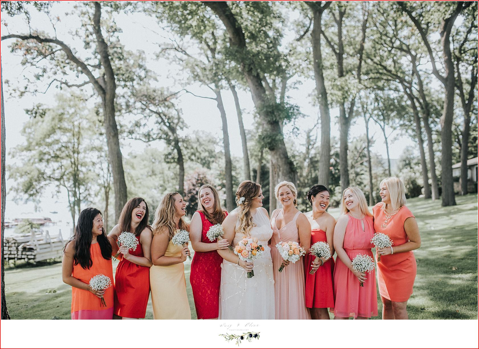 Twig olive photographytuscumbia golf course wedding green lake jew bridesmaid dresses in shades of pink ombrellifo Image collections