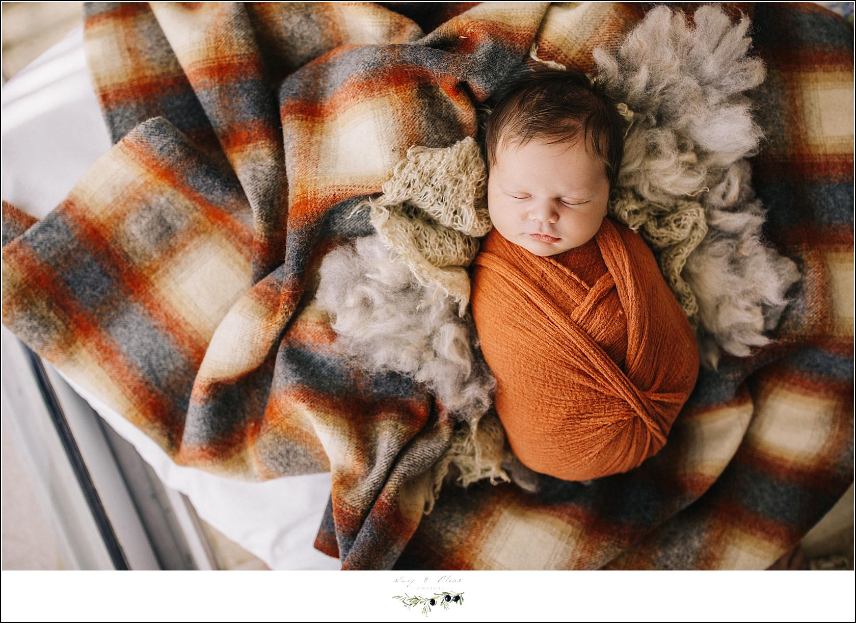 Fall Colors Newborn Photography
