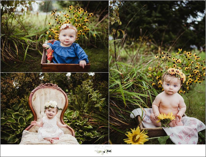 Baby Girl Flowers Photograph